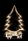 Cristmas Baum mit Geschenken Stockfoto