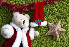 Cristmas  bear  hangs with a hat Stock Photography