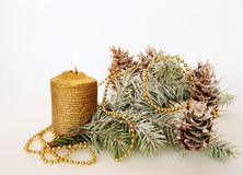 Cristmas candle Royalty Free Stock Photography