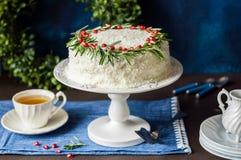 Cristmas Coconut Cake Royalty Free Stock Photo
