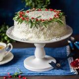 Cristmas Coconut Cake Stock Image