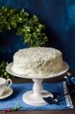 Cristmas Coconut Cake Royalty Free Stock Photos