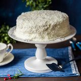 Cristmas Coconut Cake Stock Photo