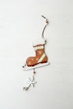 Cristmas decoration skates Royalty Free Stock Photo