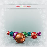 Cristmas decorations on grey background Royalty Free Stock Photography