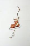 Cristmas dekoraci łyżwy Zdjęcie Royalty Free