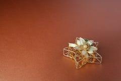 cristmas dekoraci złota gwiazda zdjęcia stock