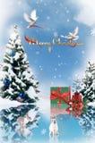 cristmas drewniani Zdjęcie Royalty Free