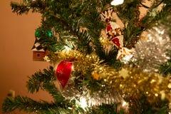 Cristmas drzewa ornamenty Zdjęcie Royalty Free