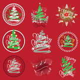 Cristmas Emblems Royalty Free Stock Photo