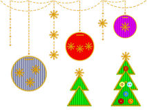 Cristmas embroideries Royalty Free Stock Images
