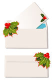 Cristmas envelopes Stock Photos