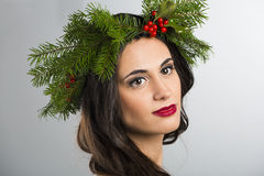 Cristmas fashion girl Royalty Free Stock Image