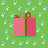 Cristmas Gift. Abstract symbol illustration Royalty Free Stock Photo