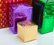 Cristmas gift boxes Royalty Free Stock Photos