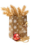 Cristmas gift package Stock Photo