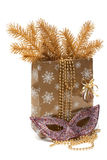 Cristmas gift package, mask Royalty Free Stock Photos