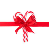 Cristmas gift ribbon and bow Royalty Free Stock Photo