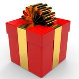 Cristmas gift. Cristmas gift on white background. 3D illustration Stock Image