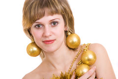 Cristmas girl Royalty Free Stock Photo