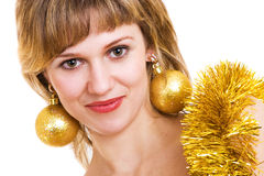 Cristmas girl Stock Photography