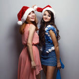 Cristmas girls Stock Images