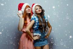Cristmas girls royalty free stock photos