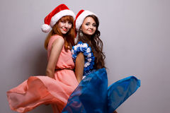 Cristmas girls Royalty Free Stock Photo