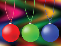 Cristmas globes composition Stock Image
