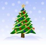 cristmas grüner Baum Stockbild