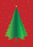 Cristmas Green pine paper pop up vector illustration