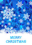 Cristmas greeting card vector template Royalty Free Stock Photos