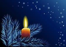 Cristmas Hintergrund mit Kerze Lizenzfreies Stockbild