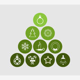 Cristmas icons set great for any use. Vector EPS10. Stock Images