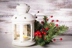 Cristmas lantern with fir Stock Image