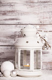 Cristmas lantern with snow Royalty Free Stock Image