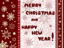Cristmas and New Years card Stock Photos