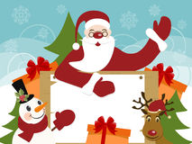 Cristmas and New Years greeteng card vector illustration