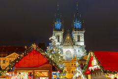 Cristmas Old Town square in Prague, Czech Republic Royalty Free Stock Photos