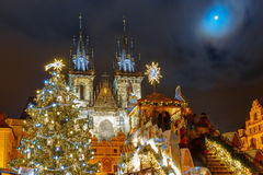 Cristmas Old Town square in Prague, Czech Republic Stock Photography