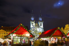 Cristmas Old Town square in Prague, Czech Republic Stock Photos