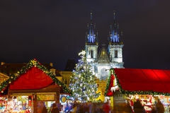 Cristmas Old Town square in Prague, Czech Republic Stock Photo