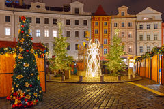 Cristmas Old Town square in Prague, Czech Republic Royalty Free Stock Photo