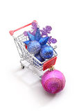 Cristmas ornaments shopping Stock Photo