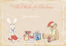 Cristmas picture. illustration Stock Photos