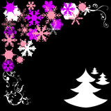 Cristmas pine and snowflake Royalty Free Stock Photo