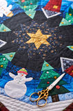 Christmas quilt Royalty Free Stock Image