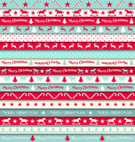 Cristmas ribbons Royalty Free Stock Image