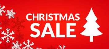 Cristmas sale. Festive give-away banner design illustration Stock Photo