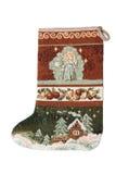 Cristmas sock. Isolated on white background Royalty Free Stock Images